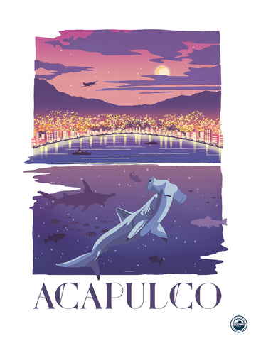 TRAVEL CARTEL POSTER ACAPULCO