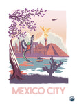 TRAVEL CARTEL POSTER MEXICO CITY