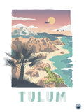 TRAVEL CARTEL POSTER TULUM