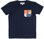 SOMEONE CAMISETA POCKET MULTICOLOR NAVY