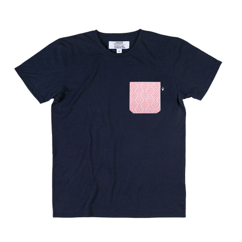 SOMEONE CAMISETA POCKET CORAL