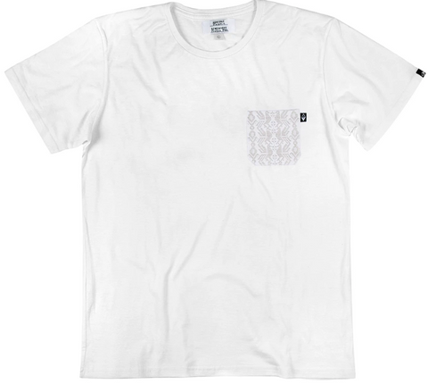 SOMEONE CAMISETA POCKET MARMOL WHITE