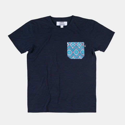 SOMEONE CAMISETA POCKET TECHO NAVY