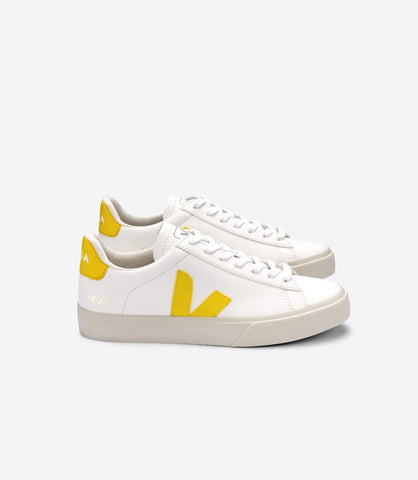 VEJA CAMPO LEATHER WHITE TONIC YELLOW WOMAN