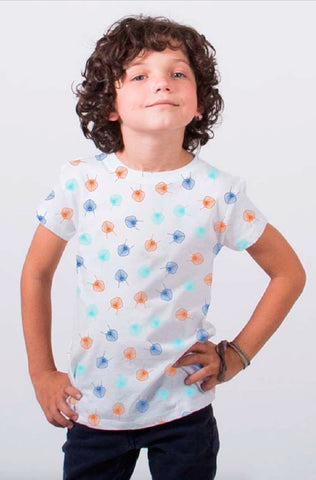 180 CAMISETA KID ALL OVER SILLAS WHITE