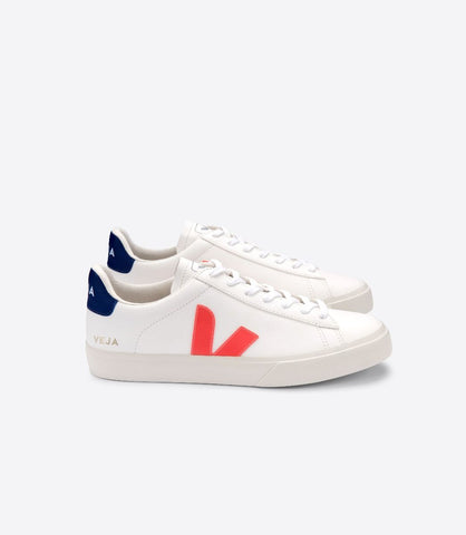 VEJA CAMPO CHROMEFREE EXTRA WHITE FLUO COBALT ORANGE MAN