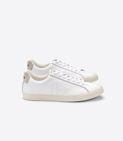 VEJA ESPLAR LEATHER EXTRA WHITE WOMAN