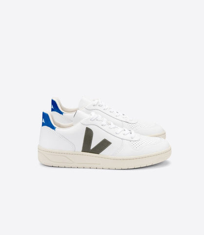 VEJA V10 LEATHER EXTRA WHITE KAKI INDIGO MAN