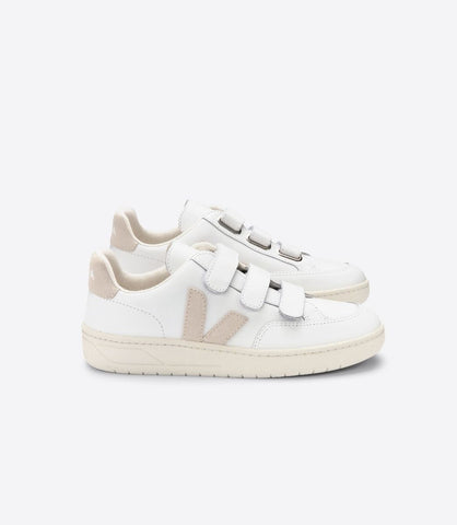 VEJA V-LOCK LEATHER EXTRA WHITE SABLE WOMAN