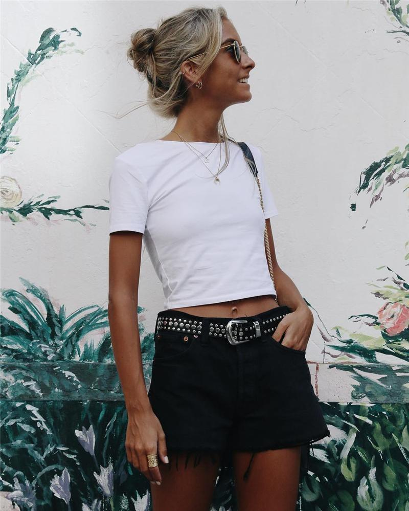 Amy's Life Classic Staple and Essential Short Tee in White-Lookbook Boutique