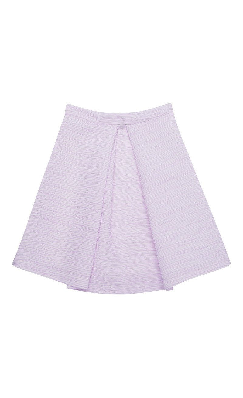 By Johnny Lilac Shadow Mini Skirt in Lilac Fleck - Lookbook Boutique