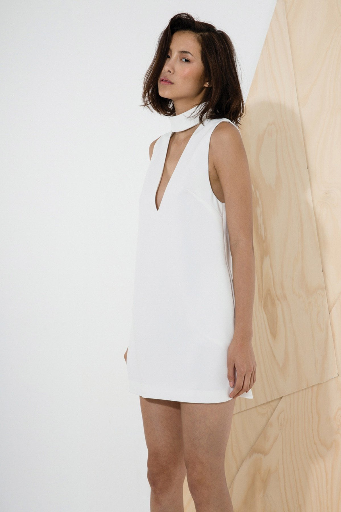 C/MEO COLLECTIVE Say It Right Dress in Ivory-Lookbook Boutique