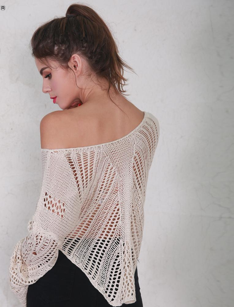 Orrbital Carrie Crochet Flare Sleeve Cotton Top in Sand - Lookbook Boutique