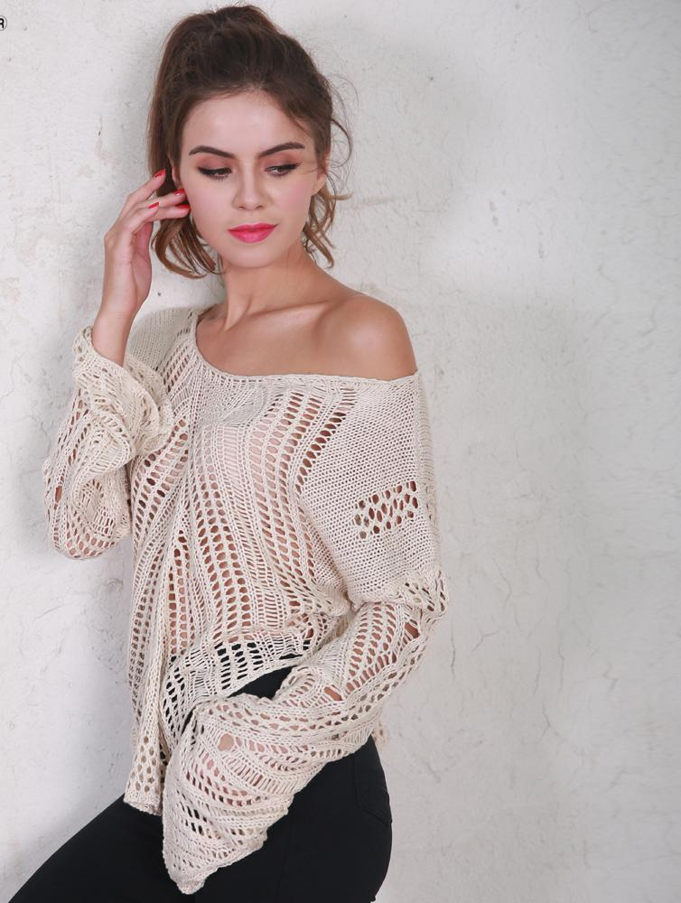 Orrbital Carrie Crochet Flare Sleeve Cotton Top in Sand-Lookbook Boutique