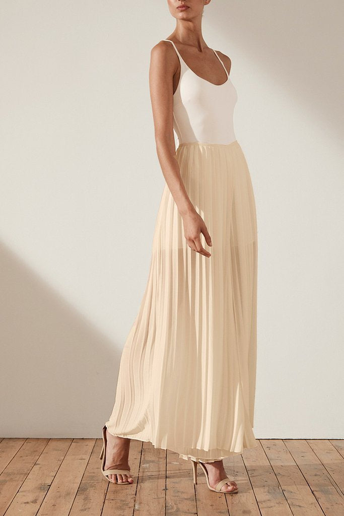 Shona Joy Botticelli Palazzo Pants in Nude - Lookbook Boutique