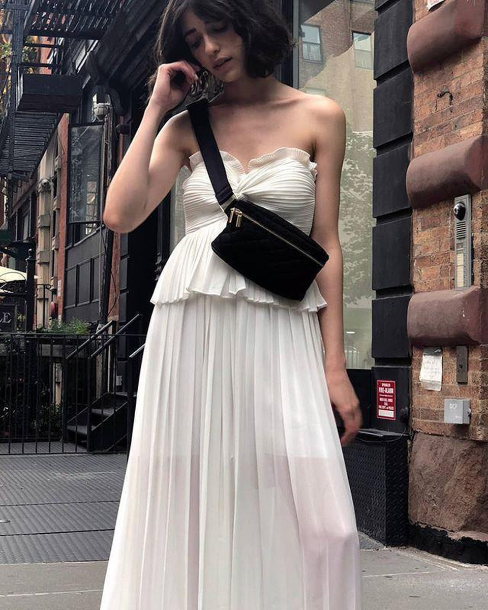 Shona Joy Botticelli Pleated Palazzo Pants in White-Lookbook Boutique