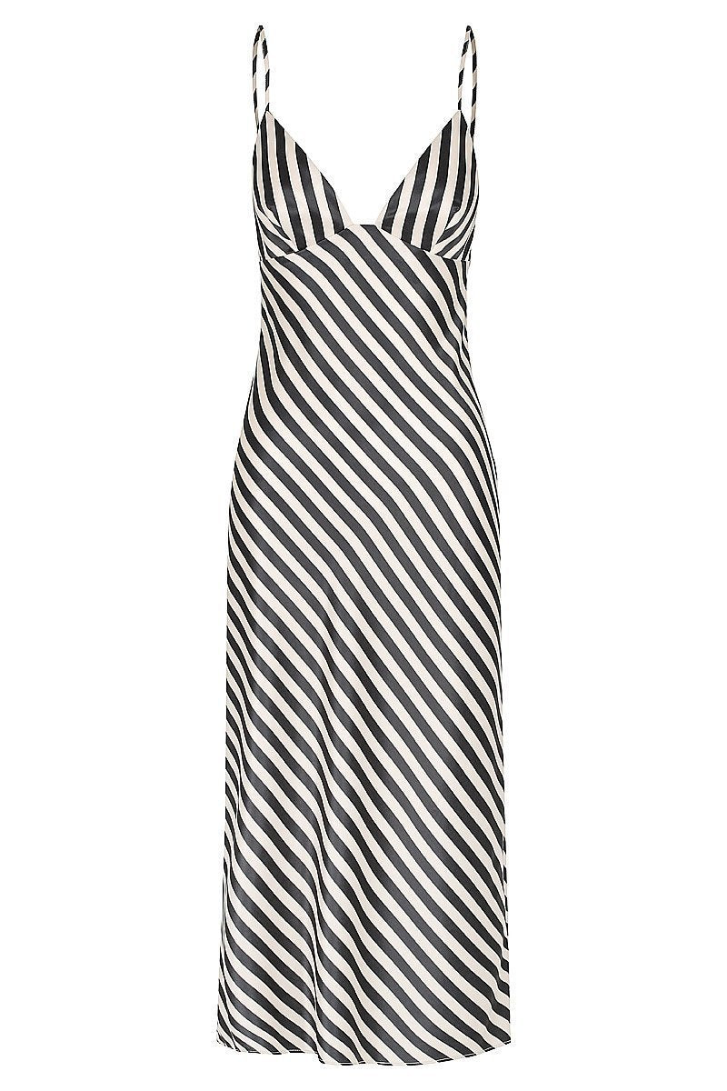 05936a5e8c Shona Joy Duke Bias Slip Midi Dress in Nude Black Stripe – Lookbook ...