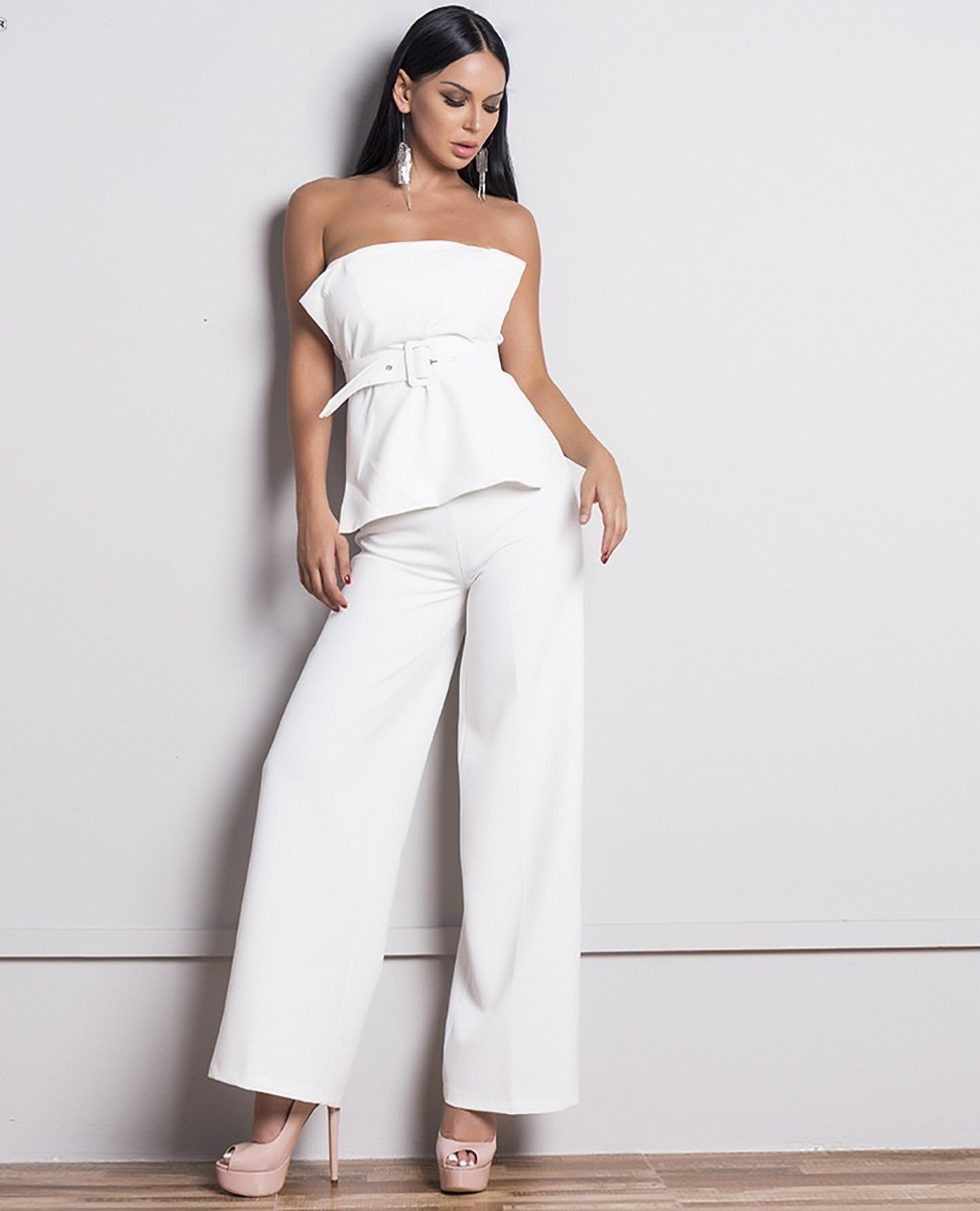 The Epic Wide Leg Pants in White - Lookbook Boutique