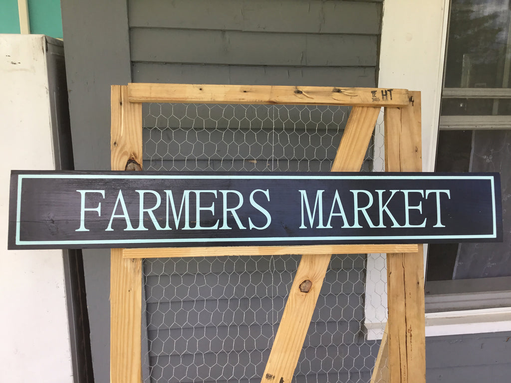 Long Farmer's Market Sign, Signs - Same As Never
