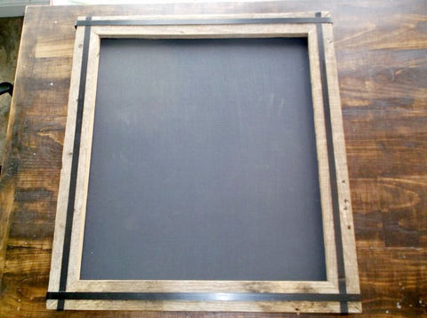 Handmade Chalkboard with Metal Strapping
