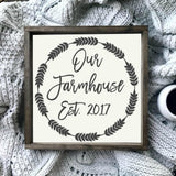 Personalized Framed Farmhouse Established Framed Wooden Sign, Framed Signs - Same As Never