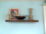 "Barnwood 2"" Thick Floating Wall Shelf, Floating Shelves - Same As Never"