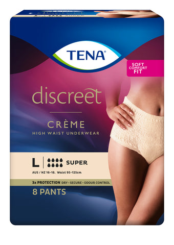TENA Pants Discreet High Waist Creme Super L