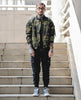 Image of Military Camo Bomber Jacket