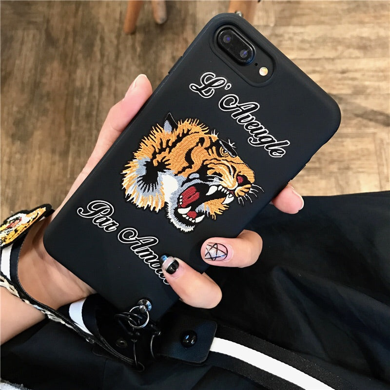 """L'Aveugle Par Amour"" Phone Cases with Lanyard"