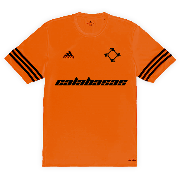 Custom adidas x Calabasas Football Jersey - Orange