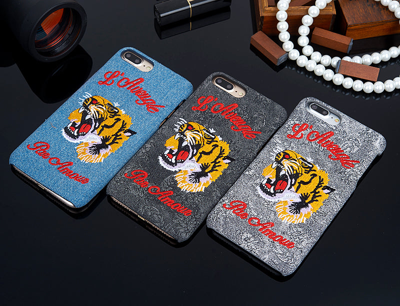 """L'Aveugle Par Amour"" Tiger Phone Cases"