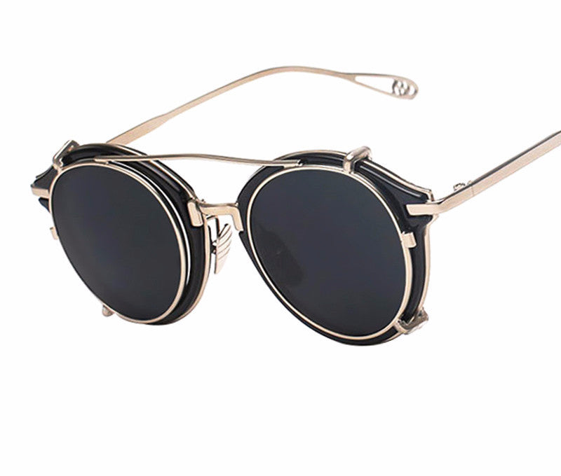 Steampunk Clip On Sunglasses