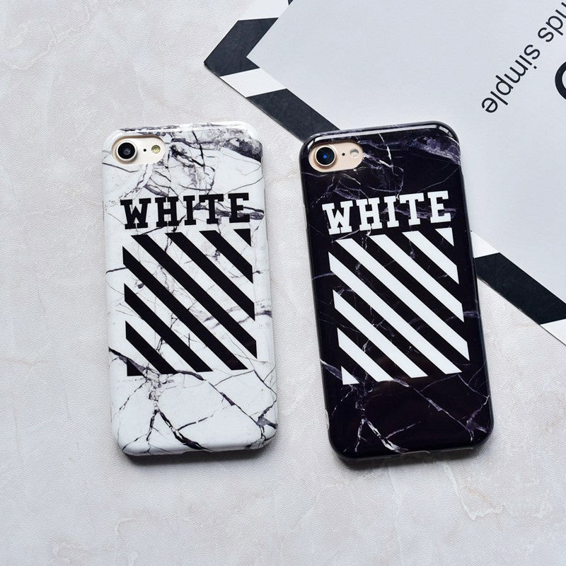 OFF-WHITE Marble Phone Cases