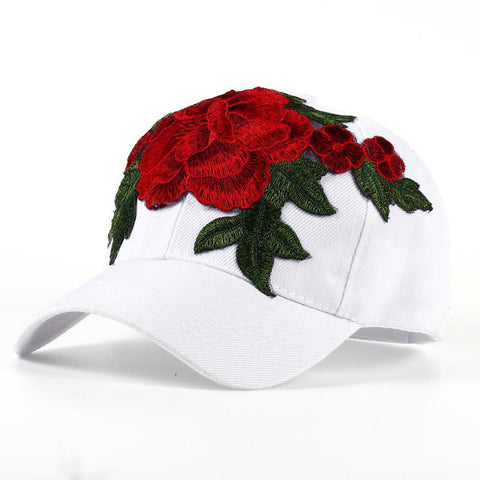 Rose Embroidered Cap