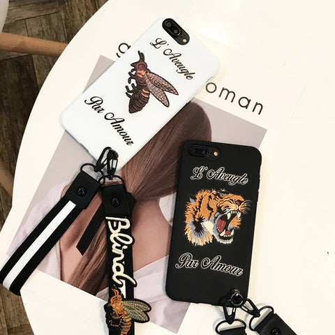 'L'Aveugle Par Amour' Phone Cases with Lanyard