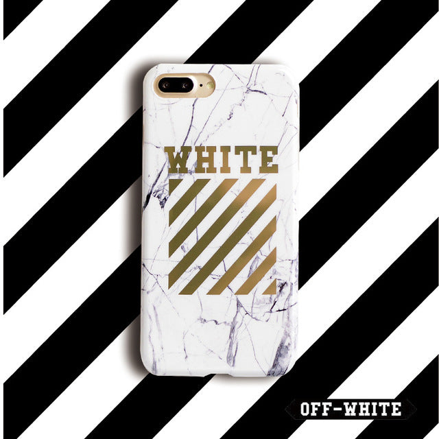 OFF-WHITE Gold Phone Cases
