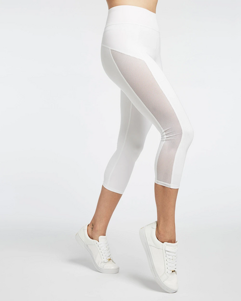 Stardust Crop Legging White