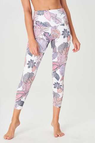 High Rise Midi Legging Boho Botanical