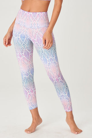 High Rise Midi Legging Rainbow Snake