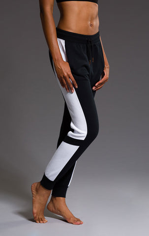 Blocked Sweatpant - Black