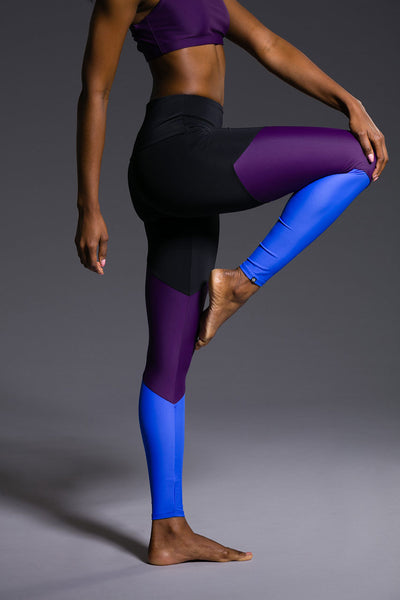High Rise Track Legging - Dhalia