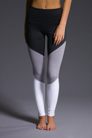 High Rise Track Legging - Slate Gray