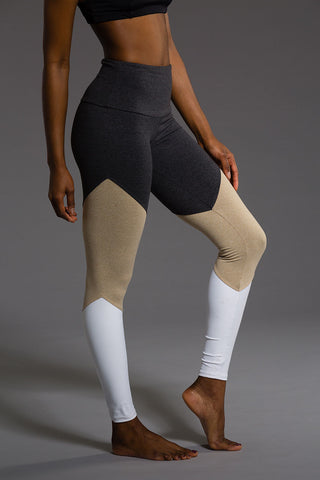 High Rise Track Legging - Taupe