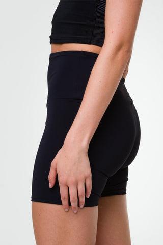 High Rise Mini Biker Short Black