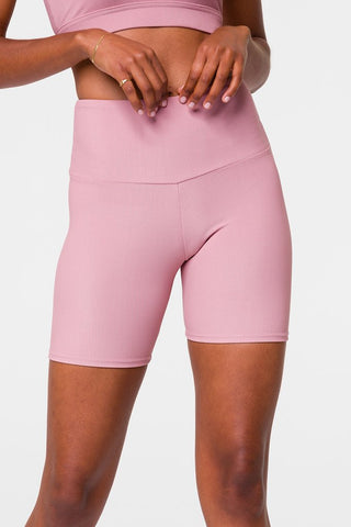 Rib Mini Biker Short Antique Rose Rib