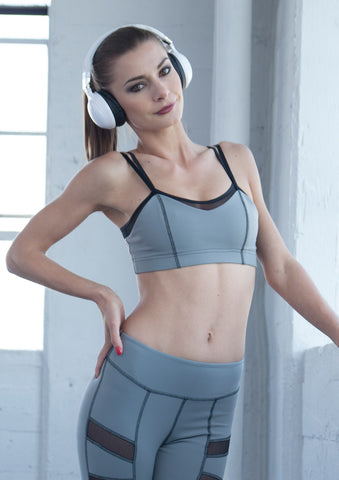2Tone Sports Bra - Light Grey