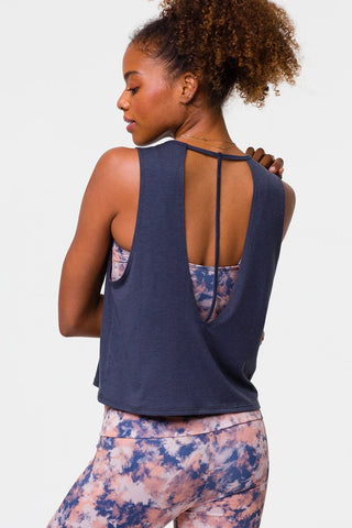 Cut Out Tank Ombre Blue
