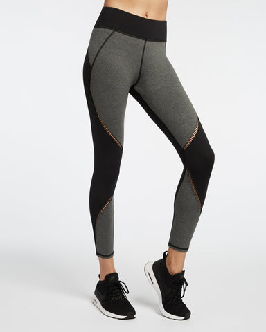 Axial Legging - Heather Grey / Black
