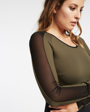 Bolt Crop Top - Olive