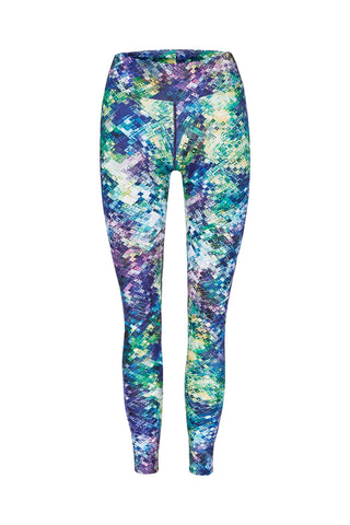 Glass Reflection High Waist Printed Yoga Legging - Full Length